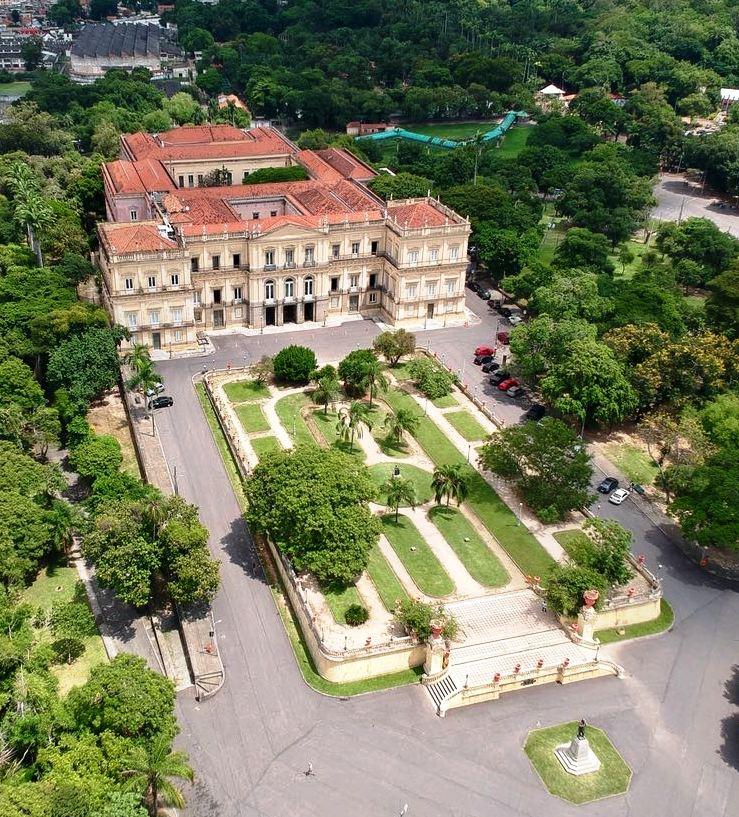 National Museum of Rio de Janeiro prior to the fire.