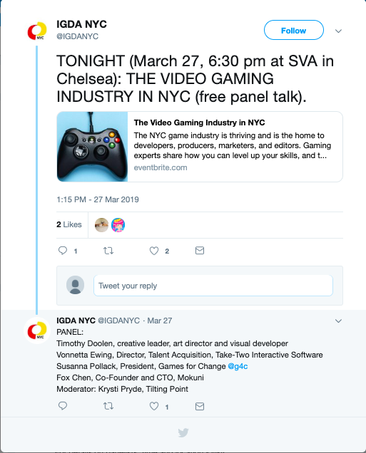 Event : The Video gaming Industry in NYC - Foundations of