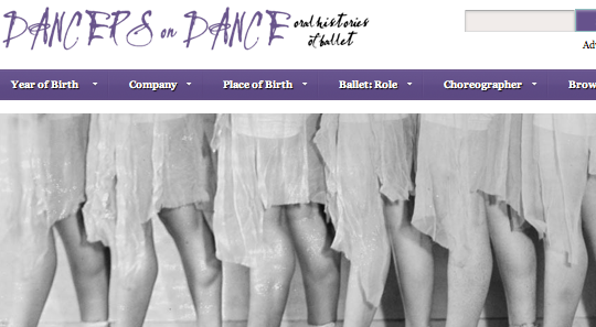 Dancers on Dance Home Page Screenshot