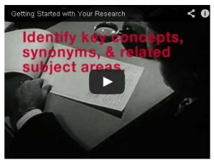 Getting Started with Research - video screen shot