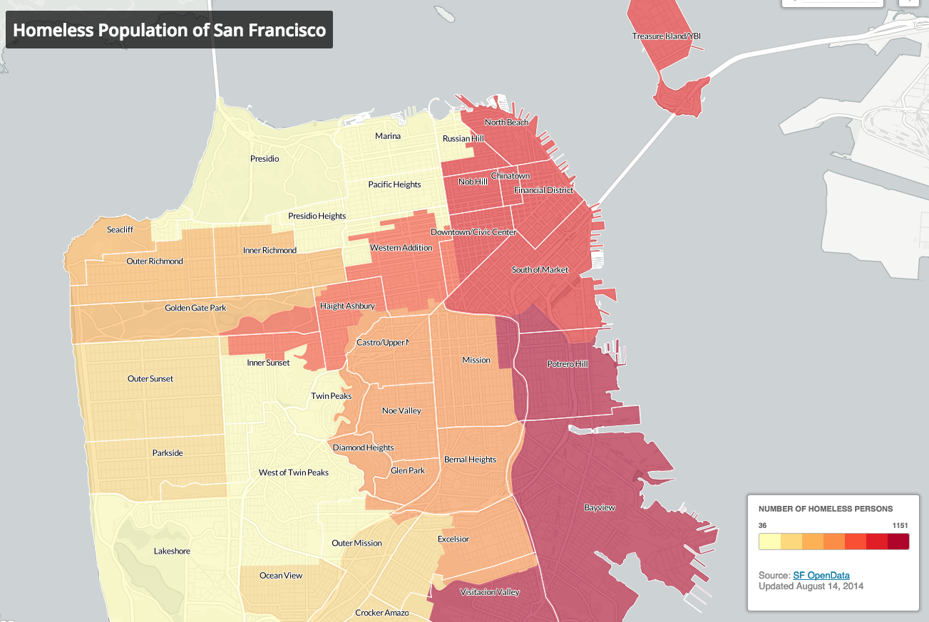Mapping homelessness and affordable housing in San Francisco ...