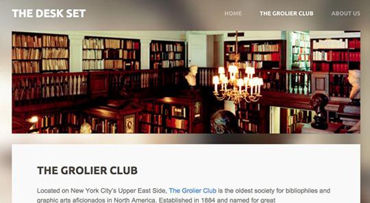 Screenshot of the Desk Set's Design Story website