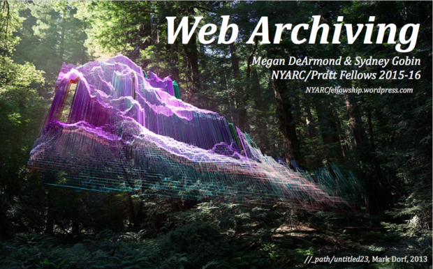 Mark Dorf artwork with web archiving text