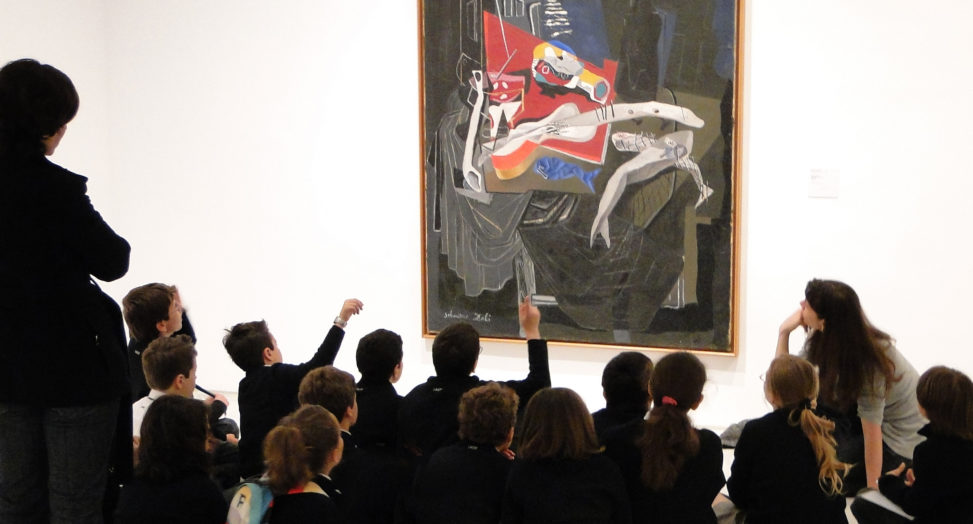 Visitors at the Museo Reina Sofia