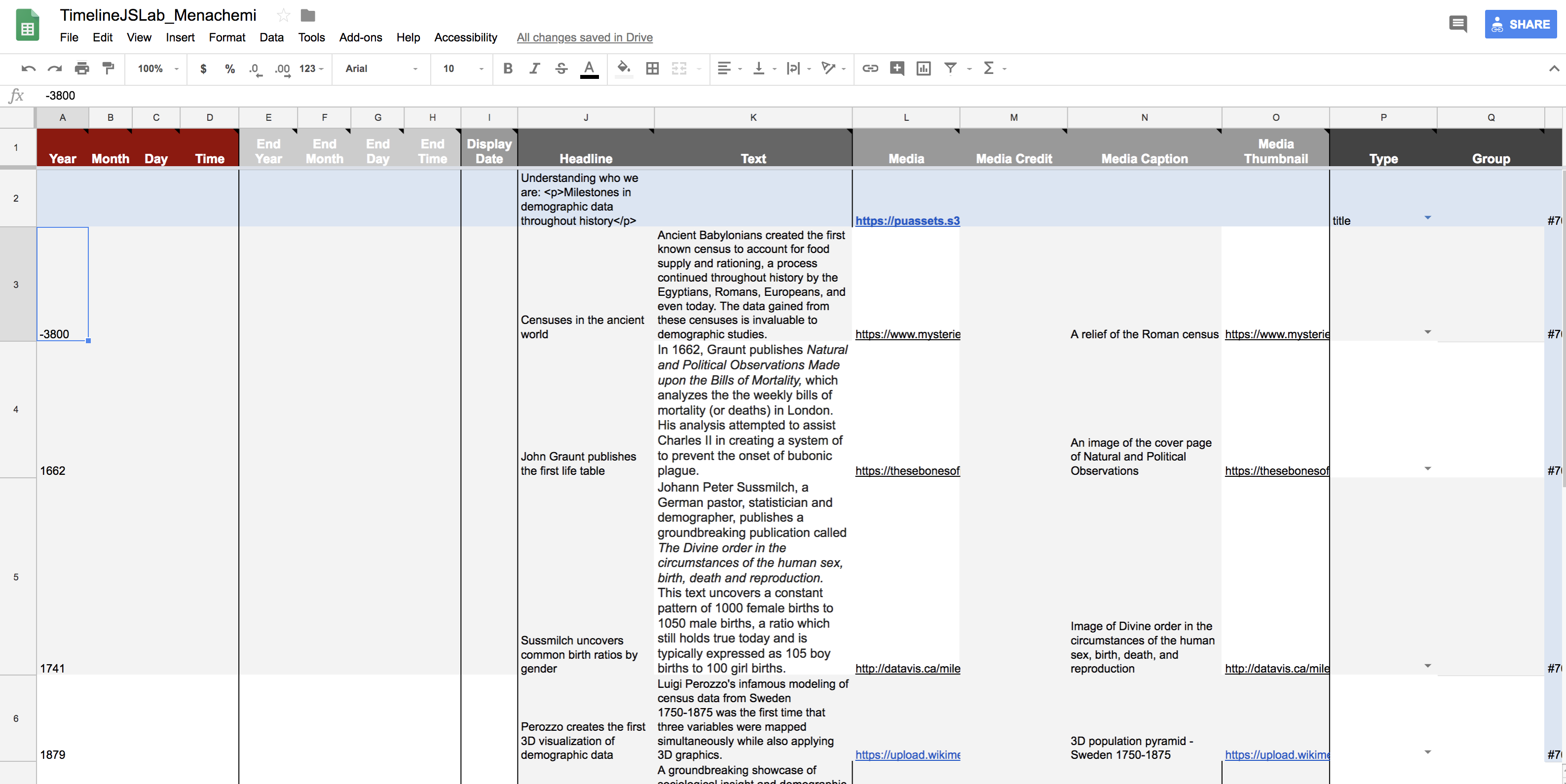 Picture of Google Sheet Template