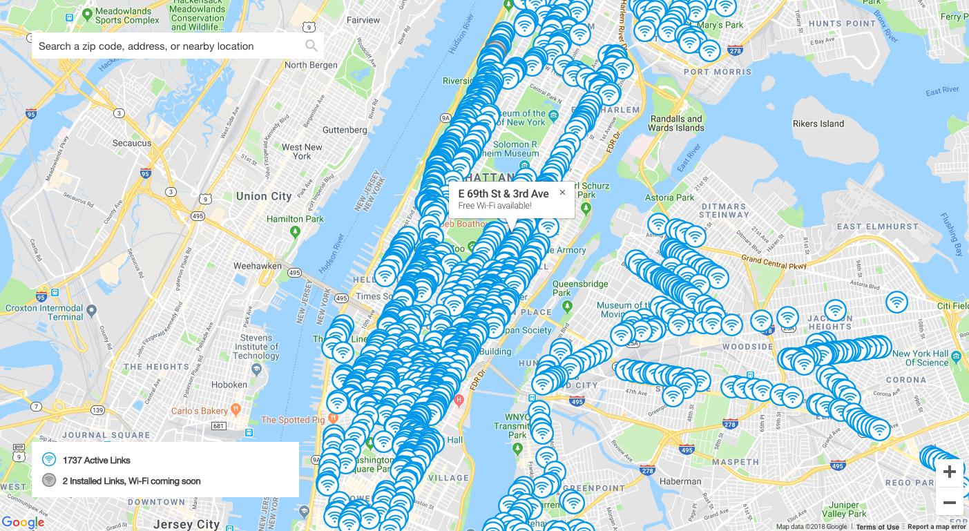 Free Wifi Nyc Map.Nyc Wifi Hotspots Student Work