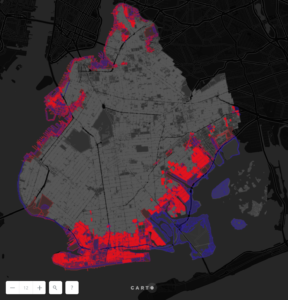 Map of Hurricane Sandy Impact on Brooklyn